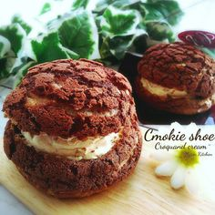 Sweets Recipes, Brownie Recipes, Cooking Recipes, Japanese Chocolate, Donuts, Cafe Food, Eclairs, I Foods, Chocolate Desserts