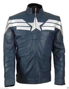 New Captain America Winter Soldier 2014 Chris Evans Biker 100% Leather Jacket #Unbranded #Motorcycle