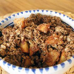 Superontbijt uit de oven: havermout-appelcrunch