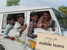 A vehicle is super important for a mobile team in Asia. Four missionaries can carry film equipment, musical instruments and literature with them as they travel for ministry. Using a vehicle also spares the team from many of the dangers of traveling on foot, especially at night and in hostile situations.  Mobile team missionaries travel many miles to minister to others. And when they visit local congregations, their ministry can encourage the believers there and strengthen the service of the…