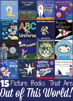 15 Space-Themed Picture Books That Are Out of This World… Space Theme Preschool, Space Activities, Preschool Books, Science Activities, Activities For Kids, Science Books, Activity Ideas, Science Education, Physical Education