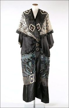 Opera cloak, possibly Poiret, 1912, Chertsey Museum Dress Collection