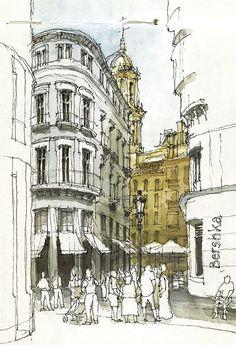 calle larios, Luis Ruiz Padrón