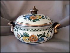 SOLD!  THANK YOU!   ASTA Enamelware Cook Pot  Casserole  by SusansShopSelections