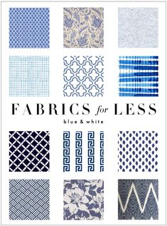 Kelly Market: FABRIC FOR LESS: BLUE AND WHITE like the navy v and polka dots as options for valence in family room/dining room