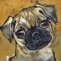 Fawn Pug large by Webbitup on Etsy