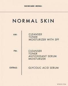 Skincare tips for normal skin. // #Skincare #Tips