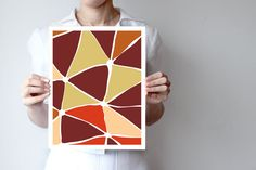 "marrom1  - Geometric print 8""x10"" or 11""x14"" - Art print - Wall decor - earth colors ohtteam"