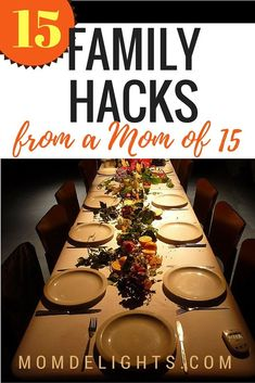 15 Family Hacks from a Mom of 15 - Mom Delights Family Of 6, Large Family Meals, Family Kids, Large Family Organization, Family Organizer, Family Schedule, Mom Hacks, Life Hacks, Kids And Parenting