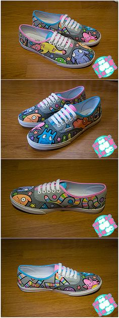 shoes for joyce by chooseyourshoes, via Flickr  painted shoes