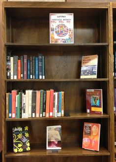 The Latino/Hispanic Heritage Month selection of titles in the Library Reading Corner. I plan on reading at least a  couple of these!