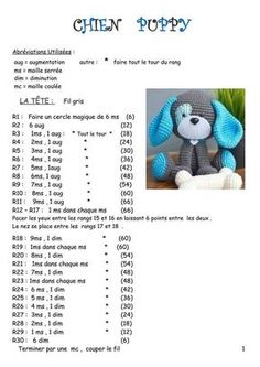 Crochet blanket patterns free 840484349192102546 - Fiche amigurumi : Le Chien – Elylou crochette Source by Crochet Dog Sweater Free Pattern, Crochet Dog Patterns, Crochet Motif, Amigurumi Patterns, Baby Blanket Crochet, Crochet Baby, Crochet Dolls, Diy Paso A Paso, Amigurumi For Beginners