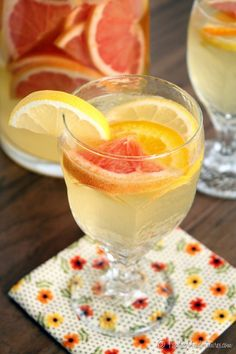 Limoncello Citrus Sangria | The Marvelous Misadventures of a Foodie - Something refreshing to drink. @Eco Nuts #SpringCleaning