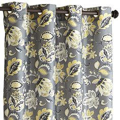 Glencove Floral Curtain - Charcoal