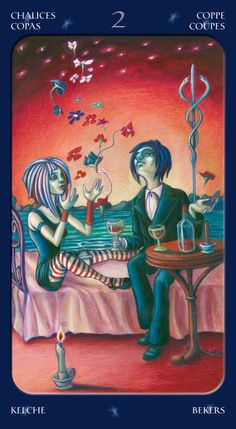 2 of Cups - Tarot of the Sweet Twilight. Connect with what really matters today.