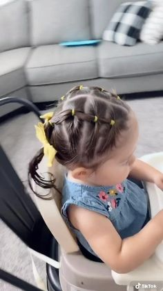 Easy Toddler Hairstyles, Easy Little Girl Hairstyles, Cute Little Girl Hairstyles, Cute Hairstyles For Kids, Cute Girls Hairstyles, Hairstyle For Baby Girl, Infant Hairstyles, Mixed Baby Hairstyles, 80s Hairstyles