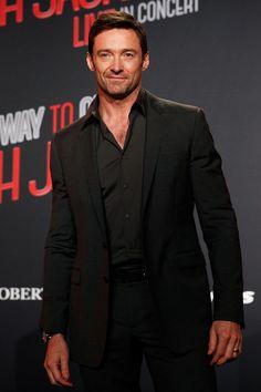 Hugh Jackman in black