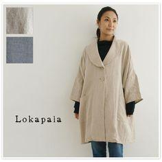 【Lokapala ロカパラ/ローカパーラ】<br>リネン キャンバス ショールカラー コート (lp160741)