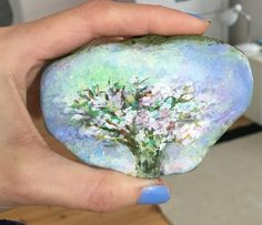Rock painting. Spring