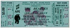 11 1964 THE BEATLES FULL UNUSED CONCERT TICKETS scrapbooking frame reprint set 3