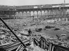 Brooklyn Dodgers Ebbets Field bleachers torn down in 1959