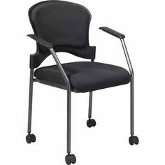 6921e95fa Office Star Pro Line II Guest Chair with Arms and Wheels