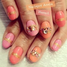 Swarovski embellished nails - Google Search