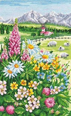 Cross Stitch Games, Cross Stitch House, Cross Stitch Tree, Cross Stitch Flowers, Counted Cross Stitch Patterns, Cross Stitch Charts, Cross Stitch Designs, Hand Embroidery Stitches, Cross Stitch Embroidery