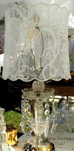Beautiful use for treasured lace.
