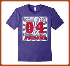 Mens Made in 2004 shirt, 13th birthday gift shirt 3XL Purple - Birthday shirts (*Partner-Link)