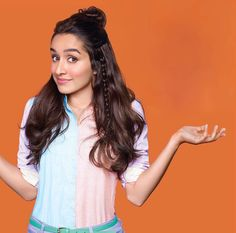 Looking for black leather pants, black tank top and orange and blue checkered shirt similar to Shraddha Kapoor in this picture - 35568 - SeenIt Shraddha Kapoor Hot Images, Shraddha Kapoor Cute, Most Beautiful Bollywood Actress, Beautiful Indian Actress, Beautiful Film, Beautiful Models, Bollywood Girls, Bollywood Fashion, Bollywood Stars
