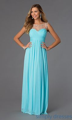 Sleeveless Ruched Prom Dress at SimplyDresses.com