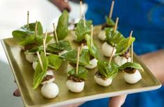Pisa Mozzarella recipe - mozzarella balls with sun-dried tomatoes and basil are so easy to make - and they look great too.