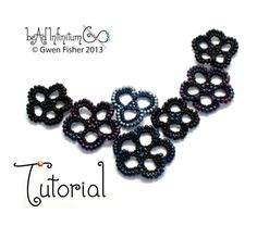 TUTORIAL Beaded Lace Flowers Part 2 of a Bead Lace Adventure Series