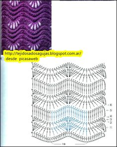 PATRONES - CROCHET - GANCHILLO - GRAFICOS: DIAGRAMAS