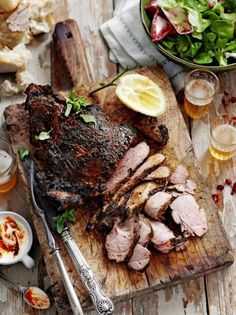 Butterflied Leg of Lamb with Mexican-style Marinade #Recipe... A complicated #MainDish recipe but well worth the time and effort.