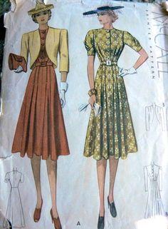 McCall 3142   1930s Misses' Dress and Bolero