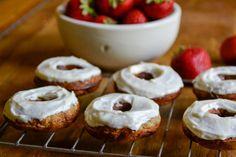 Banana Donuts with Honey Cream Cheese Frosting - bananas, eggs, honey ...