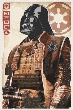 Star Wars - Samurai Vader print   by Duke Dastardly