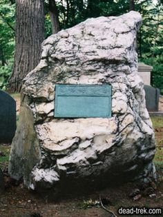 Ralph Waldo Emerson,  buried at Sleepy Hollow Cemetery on Authors Ridge. Concord,MASS., He died of Pneumonia, at age 78.