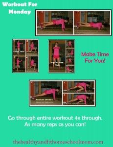 Workout For Monday