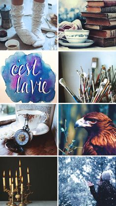 Harry Potter Aesthetics: Ravenclaw House Ravenclaw is the first winter breeze - the one that smells inexplicably like pine needles and snow and signals that fall is over and winter has arrived in its rather dramatic fashion. It is the brutality that drives a winter storm and makes one wonder at the magic of each unique snowflake. Because in Ravenclaw House, nothing is ever thought out halfway. Perhaps novels will go unwritten or paintings incomplete, but the idea continues to live on.