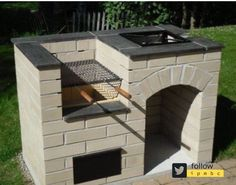 """Outstanding """"built in grill diy"""" info is offered on our website. Design Barbecue, Barbecue Grill, Outdoor Kitchen Design, Patio Design, Exterior Design, Brick Design, Fire Pit Backyard, Backyard Patio, Brick Grill"""