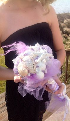 Seashell Bouquet Silver And White With Feather Accents Nautical Bride Brooch On Etsy 18000