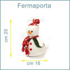 FERMA PORTA SNOWMAN Pupazzo di neve CM 25