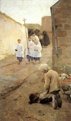 Helene Schjerfbeck, tišina koja govori : Funeral in Brittany 1884 Helene Schjerfbeck, Catholic Religion, Catholic Art, Religious Art, Religious Pictures, Jesus Pictures, A4 Poster, Blessed Mother, Sacred Art