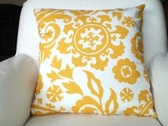 Yellow throw pillow covers
