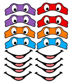 Ninja Turtle EYES Cut For You You choose size by customstickers