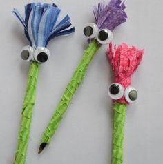 Forrando canetas divertidas os momentos de estudo dos seus filhos serão muito mais interessantes e eles aprenderão muito mais (Foto: tagsthoughts.com)
