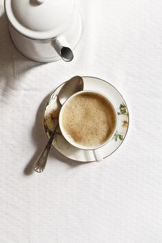 Cup of coffee and milk